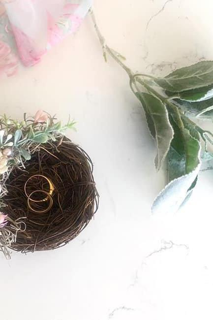 Wedding ring holder,nest ring holder,bridal ring holder, wedding ring,wedding Accessories, ring holder,bridal,wedding,bird nest ring holder