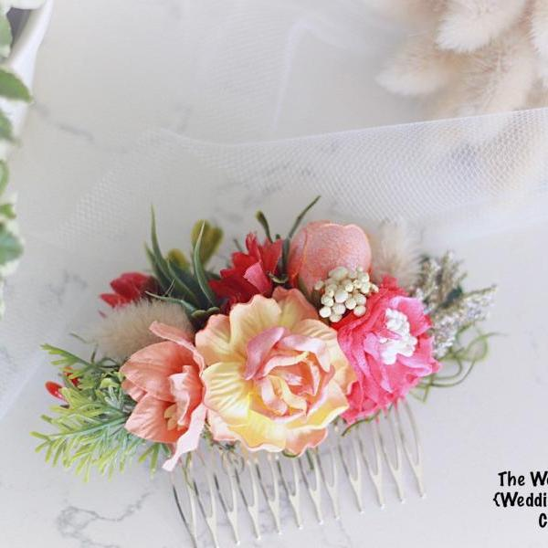 Bridal Hair comb, wedding Accessories, flower hair comb, hair comb, bridal head piece, flower comb, bridal, wedding