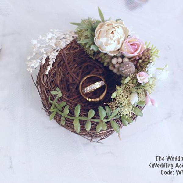Wedding ring holder,nest ring holder,bridal ring holder, wedding ring,wedding Accessories, ring holder,bird nest ring holder
