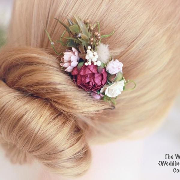 Bridal Hair comb, wedding Accessories, flower hair comb, hair comb, bridal head piece, flower comb, wedding