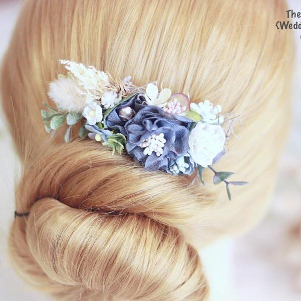 Bridal Hair comb, flower hair comb, hair comb, bridal head piece, flower comb, bridal, wedding